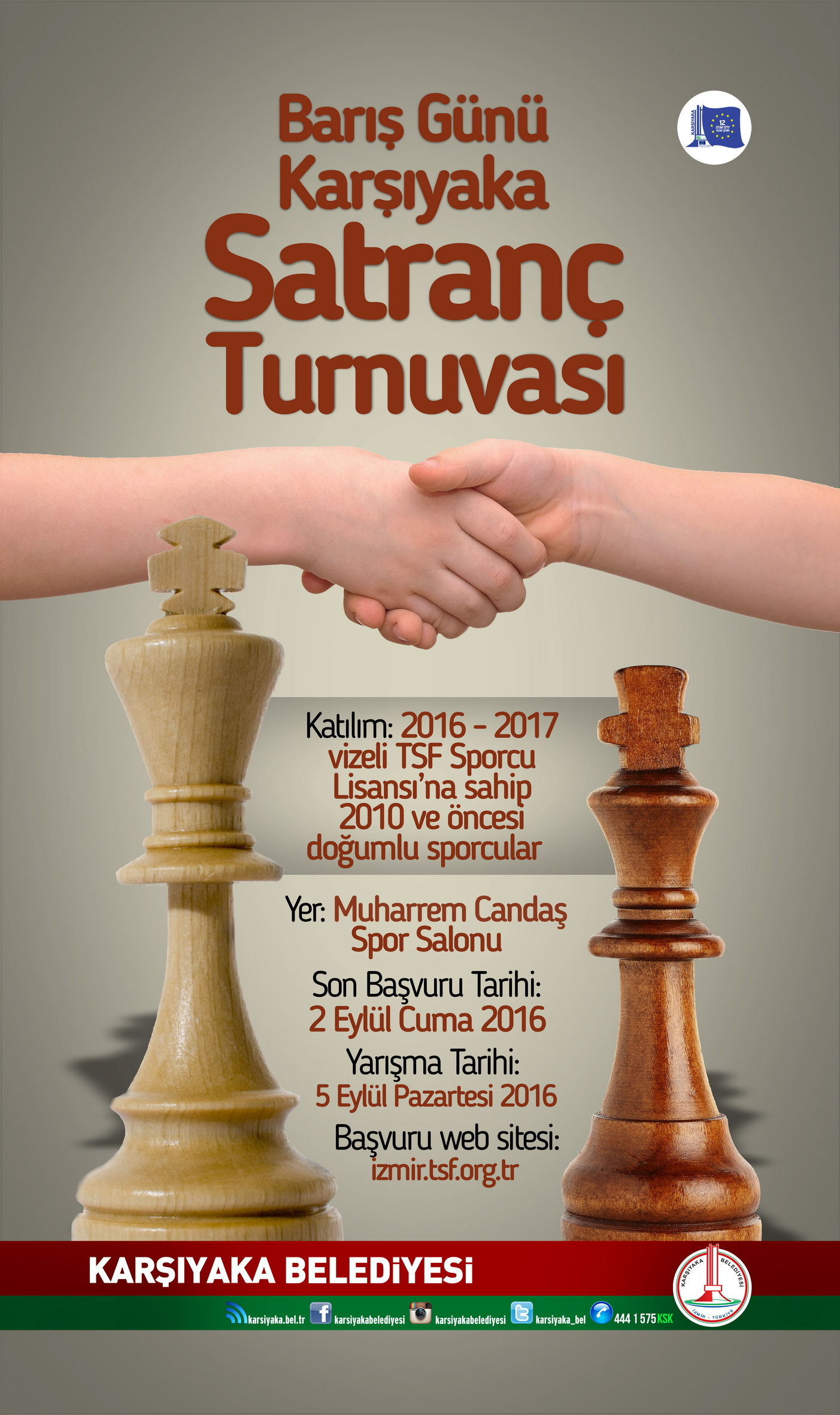 Barış Günü Karşıyaka Satranç Turnuvasındaydık